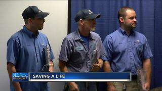 Local electricians save lives on the job - Video