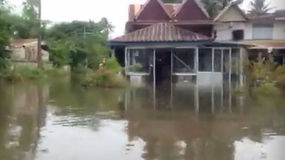 Torrential Rain Causes River Levels to Rise in Thailand's Northeast - Video