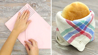 7 fancy ways to fold a napkin - Video