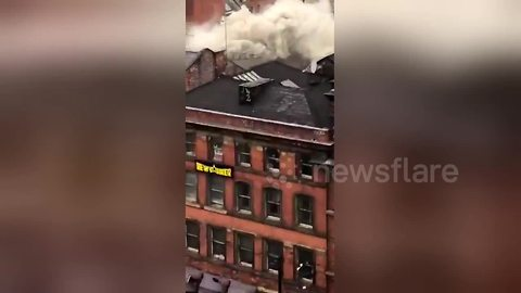 Firefighters tackle large blaze in Manchester's Chinatown
