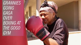60+ only in South Africa's Gogo boxing gym - Video