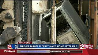 Looters target 85-year old man's burned home - Video