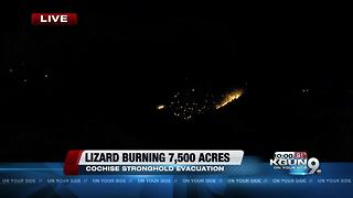 Lizard Fire causes evacuations in Dragoon, a new shelter has been set up - Video