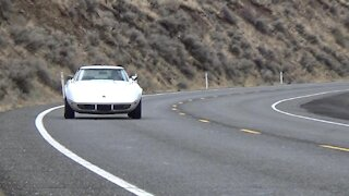 1973 Corvette on the road