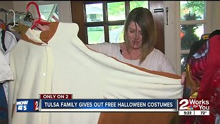 Tulsa Family Gives out free Halloween costumes