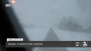 3 News Now Meteorologist Audra Moore shares an update on area road conditions