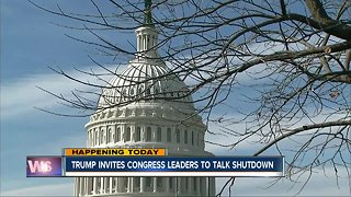 Trump invites leaders to talk shutdown - Video