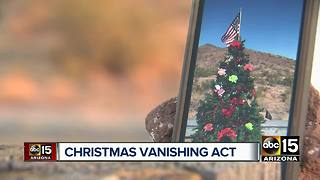 Family left stunned after Christmas tree in Cave Creek vandalized - Video