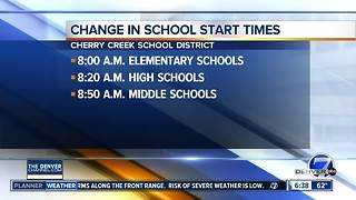Cherry Creek Schools shift to change in start times - Video
