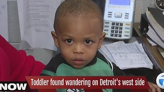 Toddler found wandering - Video