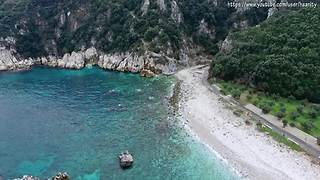 Wild beauty of Pelion, Greece captured from drone