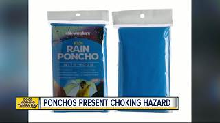 Pasco sinkhole Children's rain ponchos recalled due to strangulation hazardcould cost millions to fix - Video