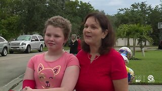 Vero Beach welcomes home child after she beats cancer
