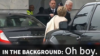 Hillary Shows Up For Inauguration, Immediately Regrets It After This - Video