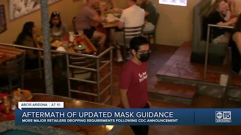 Aftermath of updated mask guidance from the CDC
