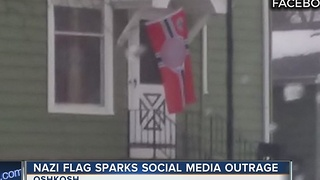 Wisconsin family threatened after Nazi Flag post on social media - Video