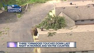 National Weather Service confirms 3 tornadoes touched down in metro Detroit