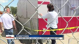 Bar and Detroit developer square off in incident that damaged a building - Video