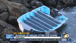 Panga, drugs wash ashore - Video