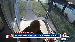 Woman caught on camera stealing package from mailbox in Irvington - Video