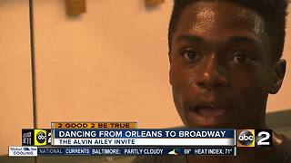 Baltimore dancer earns scholarship at Alvin Ailey Dance School - Video