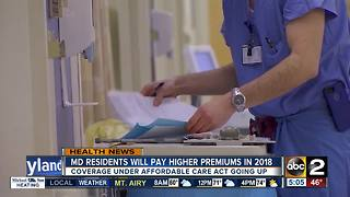 Marylanders will have higher insurance premiums under the Affordable Care Act - Video