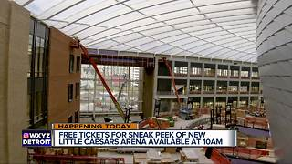 Tickets for Little Caesars Arena preview available on Friday - Video