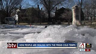 Kansas City residents deal with frigid weather