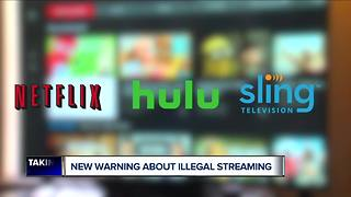 Warnings issued to people who are illegally streaming video - Video