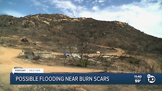 San Diegans in fire-scarred areas prepare for incoming storm