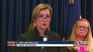 Iowa governor gives coronavirus update