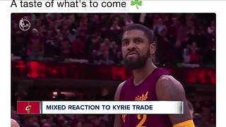 Fans react to Kyrie Irving trade - Video