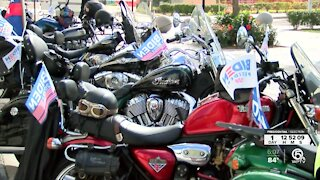 'Ridin with Biden' motorcyclists encourage voting in West Palm Beach