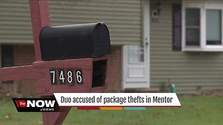 Woman, 10-year-old caught stealing packages off of front porches in Mentor - Video