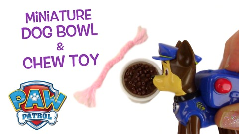 Miniature dog food bowl and toy DIY tutorial