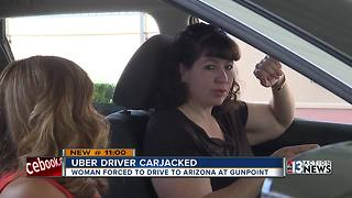 Uber driver says she was carjacked at gunpoint in North Las Vegas, ends in Arizona - Video