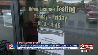Driver;s license agencies close for days at a time - Video