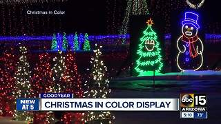 'Christmas in Color' takes over Goodyear - Video