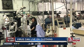 Coronavirus can live on clothes