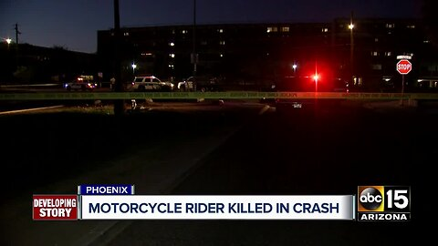 Motorcyclist killed in collision in Phoenix