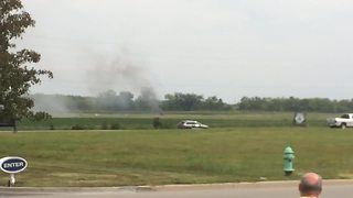 Raw: Cell phone video of deadly plane crash in Fishers - Video