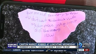Canton Market robbed midday Wednesday