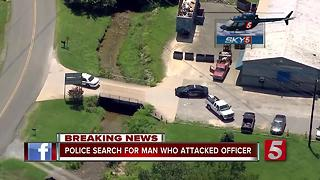 Millersville Officer Assaulted; Manhunt Underway For Suspect - Video