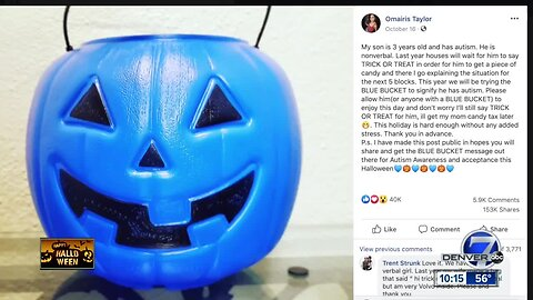 'Blue Pumpkins' raising awareness for children with autism on Halloween