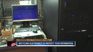 Recycling electronics to protect your information - Video
