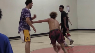 LiAngelo Ball Plays Pickup Game vs LaMelo with ZERO Defense or Passing - Video
