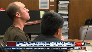 Man convicted of killing mom as a teen denied early release