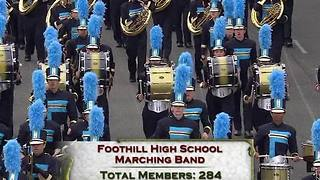 Foothill Marching Band in the Rose Parade - Video