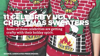11 Celebrity Ugly Christmas Sweaters | Rare People - Video