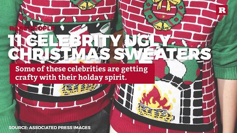 11 Celebrity Ugly Christmas Sweaters   Rare People